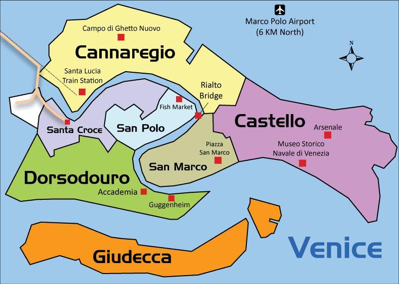 Karte Von Venedig Bereich Karte Von Venedig Italien Umgebung