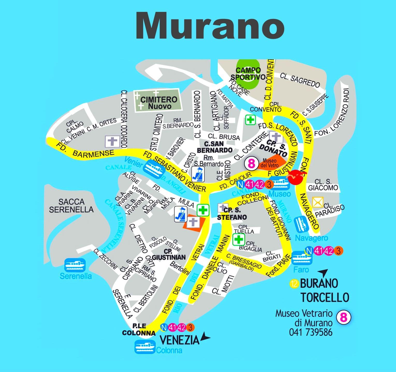Venedig Karte.Murano Venedig Map Karte Von Murano Venedig Italien