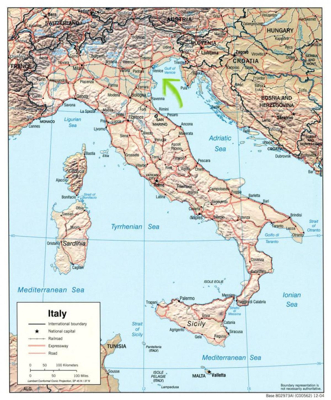 Karte Anzeigen.Venezia Italien Landkarte Eine Karte Von Venedig Italien Italien
